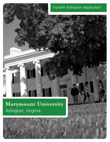 download a PDF application - Marymount University
