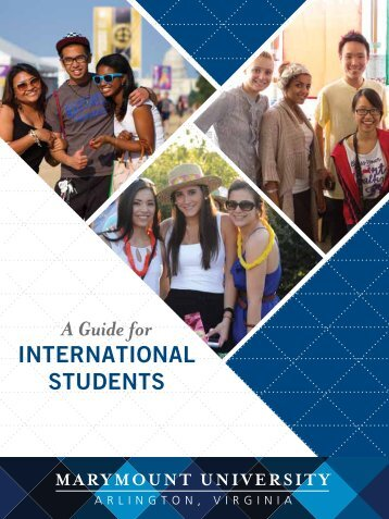 A Guide for International Students - Marymount University