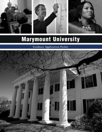 paper application - Marymount University