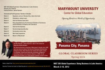 panama - Marymount University