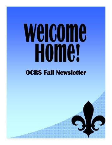 OCRS Fall Newsletter OCRS Fall Newsletter - Marymount University