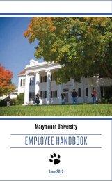 EmployEE Handbook - Marymount University