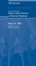 CME 4-Panel, 1-Color-Practice of Internal Med ... - Mayo Clinic