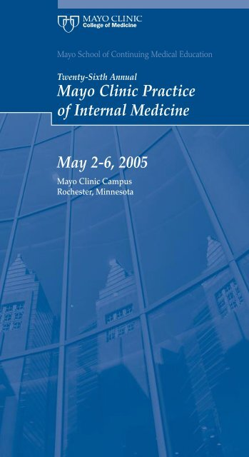 CME 4-Panel, 1-Color-Practice of Internal Med     - Mayo Clinic