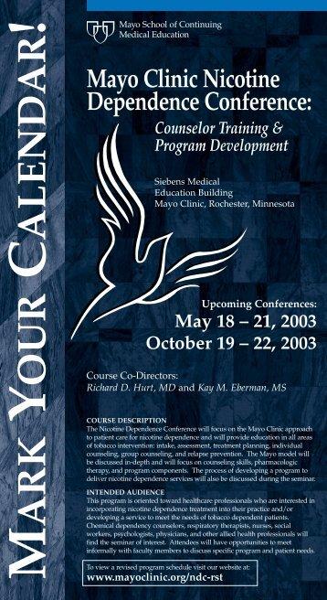 CME Post Cards-2-Color Nicotine Dep 03 - MC8018-29 - Mayo Clinic