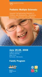 Pediatric Multiple Sclerosis - Mayo Clinic