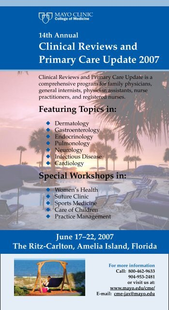 14th Annual Clinical Reviews And Primary Care     - Mayo Clinic
