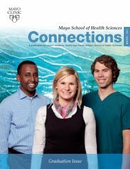 MSHS Alumni Connections Mag Winter 11 - MC4192 ... - Mayo Clinic