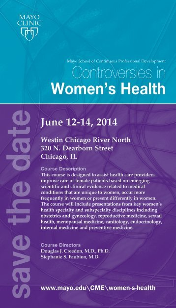 CME Post Card Controversies in Women s Health ... - Mayo Clinic
