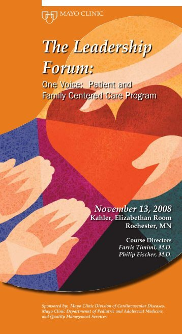 Voice of the Patient Brochure - MC4111-50 - Mayo Clinic