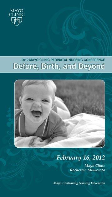 CNE - Nursing Perinatal Conference Brochure ... - Mayo Clinic