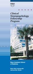Clinical Neuropsychology Fellowship Program - Mayo Clinic