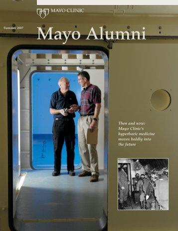 Mayo Alumni Magazine 2007 Summer - MC4409-1007 - Mayo Clinic