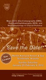 CME SCT 2-Color Postcard - EEG EMG - MC8300-03 - Mayo Clinic