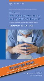 Quality Conference Online Brochure - mc1128-13 - Mayo Clinic