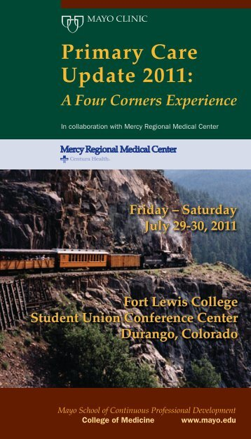 Primary Care Update 2011: A Four Corners Experience - Mayo Clinic