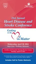 CNE - Heart of Matter Conference Brochure - MC2301 ... - Mayo Clinic