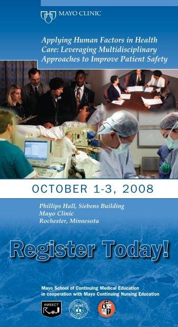CME 4-Panel, 4-Color - Human Factors - MC8002-44 - Mayo Clinic