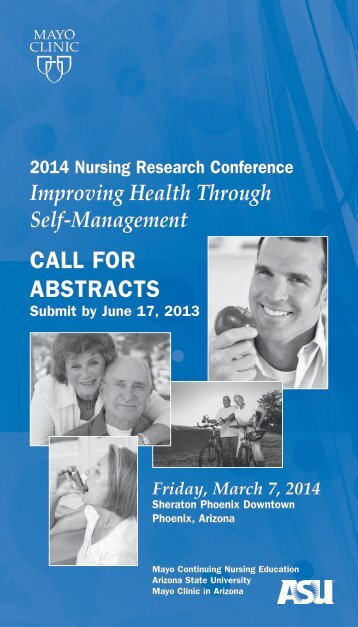 CNE-23rd Annual Nursing Research Call for Abstracts ... - Mayo Clinic