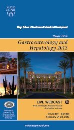 Course Brochure - Mayo Clinic