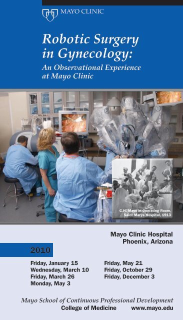 Robotic Surgery in Gynecology - Mayo Clinic