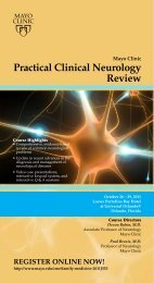 Practical Clinical Neurology Review - Mayo Clinic