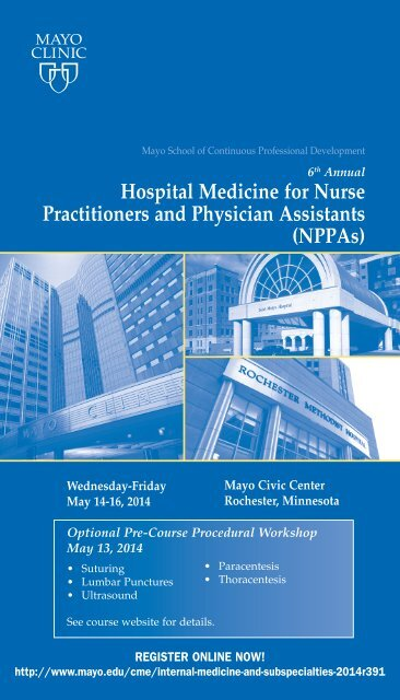 Hospital Medicine for Nurse Practitioners and     - Mayo Clinic