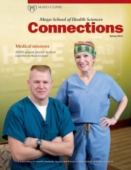 MSHS Alumni Connection Mag SP 11 - MC4192-0311 - Mayo Clinic