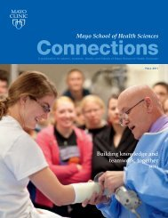 MSHS Alumni Connection Mag Winter 10 - MC4192     - Mayo Clinic