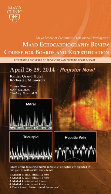CPD broch Echocardiography Review Boards     - Mayo Clinic