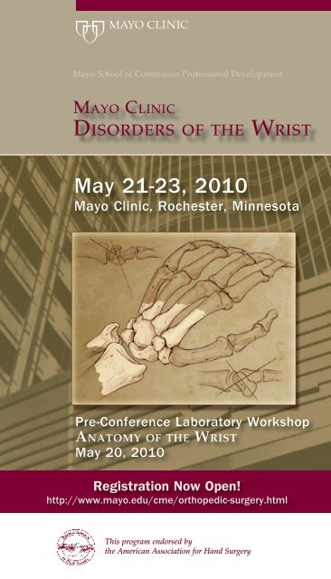 CME 5p 4c Disorders of the Wrist - MC8014-18 - Mayo Clinic