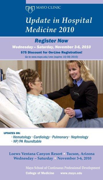 Update in Hospital Medicine 2010 - Mayo Clinic