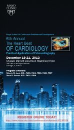 The Heart Beat of Cardiology - Mayo Clinic