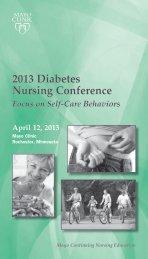2013 Diabetes Nursing Conference - Mayo Clinic