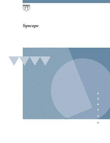 Syncope - MC2945 - Mayo Clinic