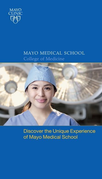 Mayo Medical School brochure - Mayo Clinic
