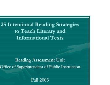 25 Reading Strategies - Seattle Public Schools