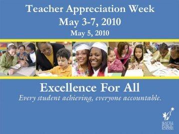 Board Work Session Budget Update Teacher Appreciation Week ...
