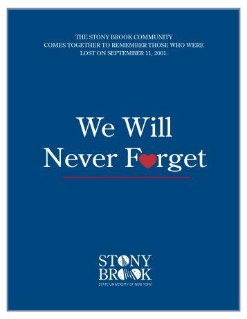Memorial Program - Stony Brook University