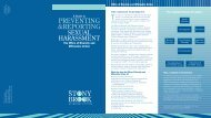 Preventing & Reporting Sexual Harassment Brochure - Stony Brook ...
