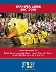 Transfer Guide • 2007-2009 - Stony Brook University
