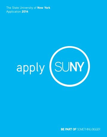 2013 SUNY Application - Stony Brook University