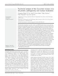 Functional analysis of the Cucumber mosaic virus 2b protein ...