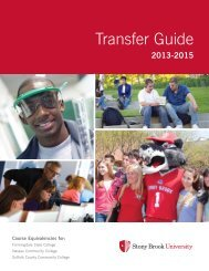 Transfer Guide • 2005/2007 - Stony Brook University