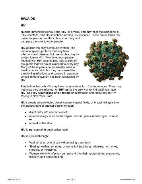 HIV/AIDS HIV Human Immuno