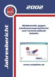 Jahresbericht 2002 - Stopline