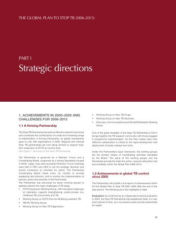 2005 and Challenges for 2006 - 2015 [.pdf] - Stop TB Partnership
