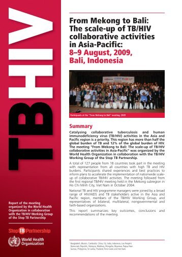 From Mekong to Bali - Stop TB Partnership