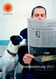 Umwelterklärung 2011 - Stora Enso - EMAS