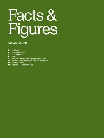 Stora Enso Facts & Figures 2012